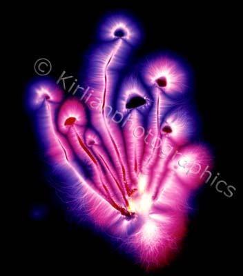 Toadstool with Kirlian effect